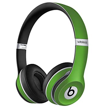Nappa Texture Pu Leather Skin For Beats Solo 2 Headphone Lime Green