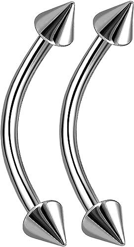 bodyjewellery 16g Titanium G23 Labret Conch Bar Earrings Tragus Rook Eyebrow Ring Stud Helix Cartilage Lip