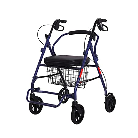 Bseack_store Andador,Fold Old Man Shopping Cart Sit Push ...