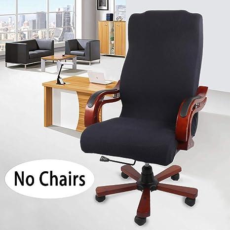 Monba - Funda Universal para Silla de Oficina o de Escritorio, Funda de sillón de Repuesto para Silla de Paseo de Escritorio, giratoria, elástica, ...