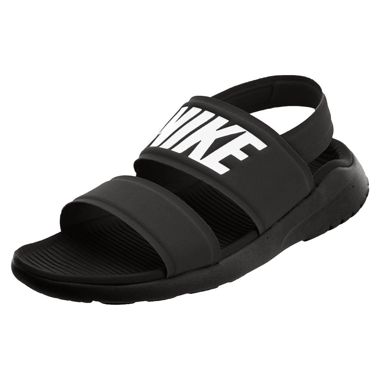 Nike Women's WMNS Tanjun Sandal, Black/White-Black, 5 US ...