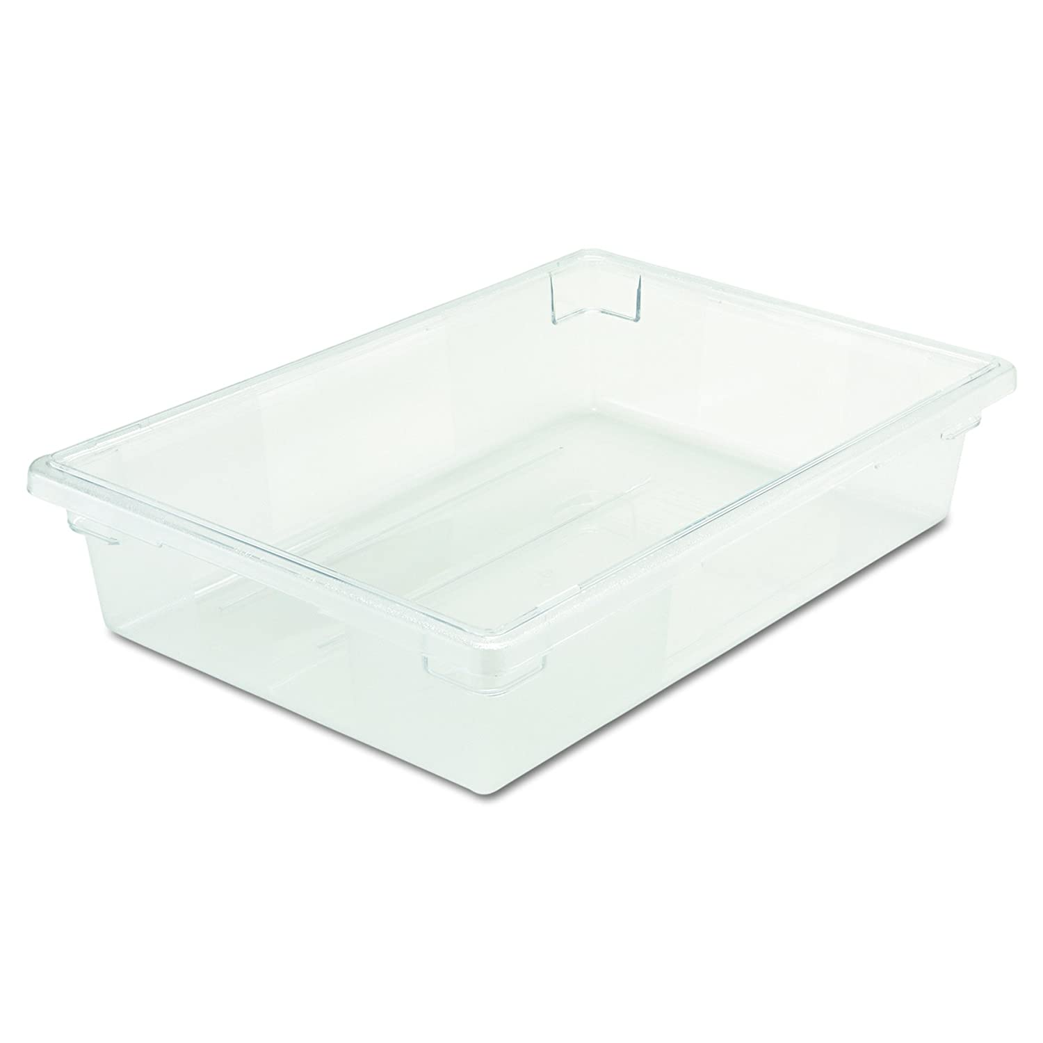 Rubbermaid Commercial 3308CLE Food/Tote Boxes, 8 1/2 gal, 26 w x 18 d x 6 h, Clear