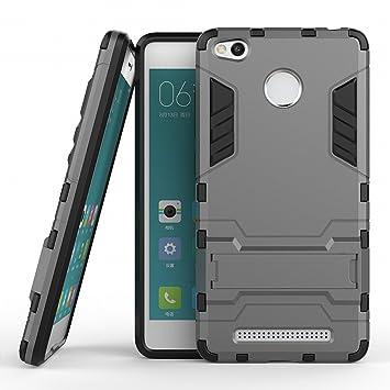 Xiaomi Redmi 3 Pro Armor Funda DWaybox 2 in 1 Hybrid Heavy Duty Hard Espalda Carcasa Funda para Xiaomi Redmi 3 Pro / Redmi 3 Stand Funda con kickstand ...
