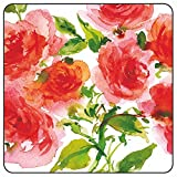 Paperproducts Design PPD 88210 Wild Roses Dinner Paper Plates, Eight - 10'' Square plates, Pink