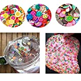 52 pcs Slime Making Kit/Slime Supplies Kit Including Colorful Foam Ball, Beads, Glitter Jars, Fruit Slices, Colorful Sugar Paper Accessories for DIY Handmade Craft Slime