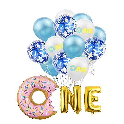 SMAQZ Decoración de Globos de Fiesta de cumpleaños - Donut ...