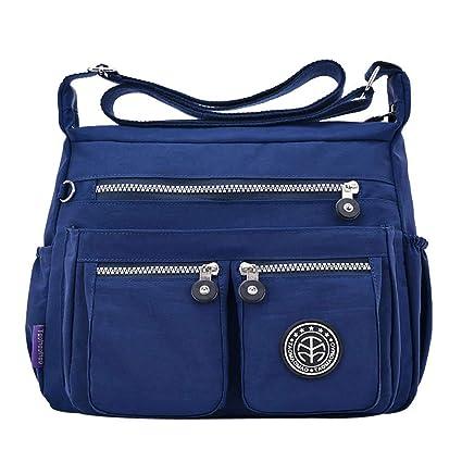 c59ef3c29fc2 Amazon.com: New Women Messenger Bags for Women Waterproof Nylon ...