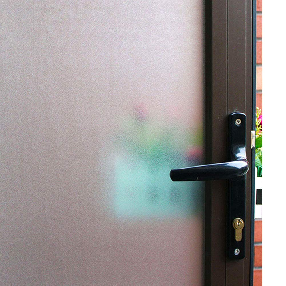 Mikomer Frosted Window Film,Privacy Door Film,Static Cling Glass Film,Removable/Stained Glass/Anti UV for Bathroom,Office,Meeting Room,Bedroom Security and Decoration,17.5In. by 78.7In.