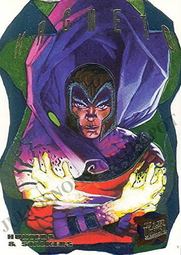 X-MEN 1995 FLEER ULTRA HUNTERS + STALKERS FOIL INSERT CARD 8 OF 9 MAGNETO - Hunter Kids Inserts