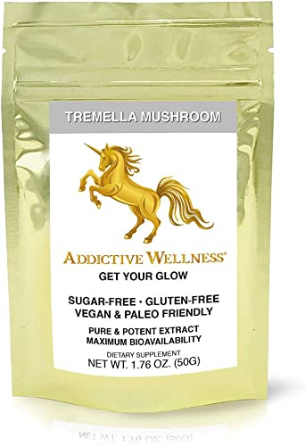 Addictive Wellness Tremella Mushroom Extract Powder Wood Grown Pure Potent