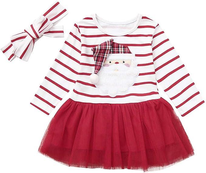 Daylin Infantil Bebé Niña Vestidos de Tutu, Navidad Manga Larga ...