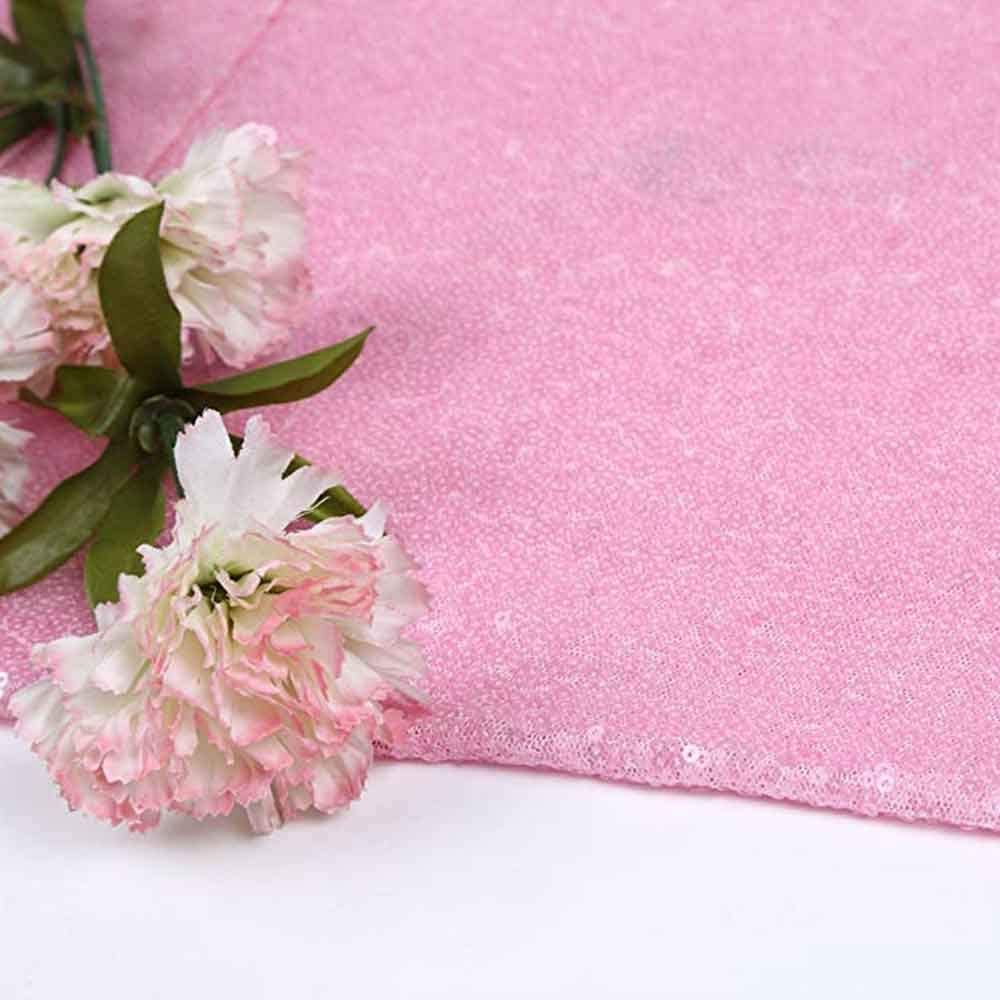 GoEoo 8x8ft Millennial Pink Glitter Backdrop Pack Foil Curtains Metal Fringe Curtain Photography Background and Birthday Wedding Party Decoration Backdrop LY174