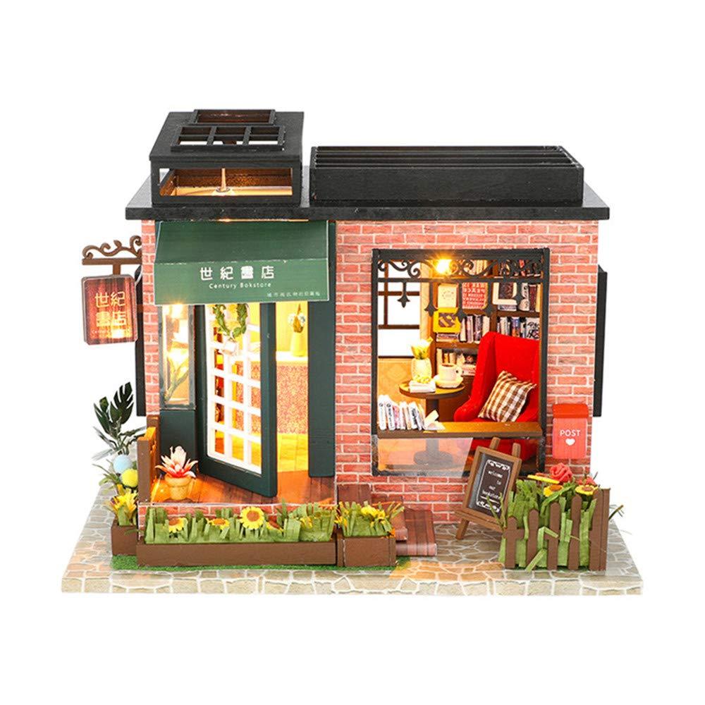 【送料無料(一部地域を除く)】 DIYのミニチュアの家DIYの家世紀の書店カバーなしヴィラの創造性手作りの木のおもちゃ組み立てモデルA誕生日プレゼントモービルと木の人形の家 B07M89J8LH B07M89J8LH, デンキヤ2:172021b6 --- a0267596.xsph.ru