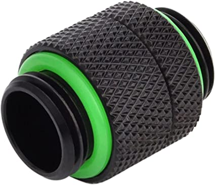 Matte Black Bitspower G1//4 5mm Male to Male Fitting