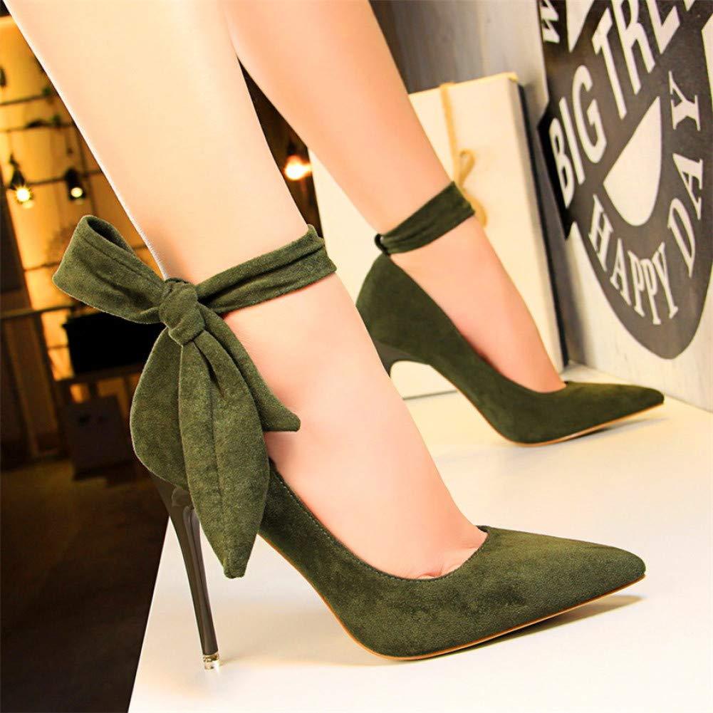 XSY Klassische Ankle Lace-Up Bowknot Frau Schuhe High Heels Heels Heels Schuhe Party Schuhe Mode Frauen Pumps  ba7eac