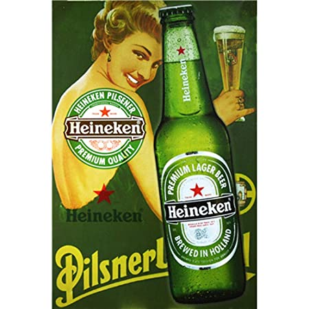 Sary buri Heineken Gril Vintage Metal Cartel De Chapa Placa ...