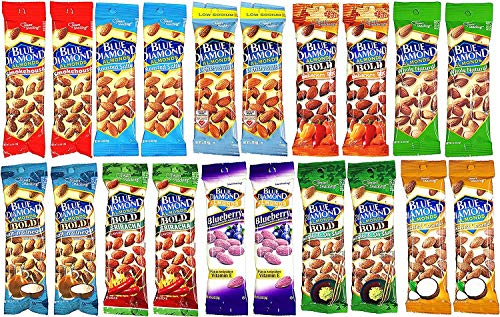 (Blue Diamond Almonds Variety Pack (1.5 Ounce Bags) (20 Pack))