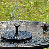 Anpatio Outdoor Solar Powered Bird Bath Fountain Floating Pool Brushless Water Pump with 7 Different Spray Heads for Birdbaths Garden Pond Fish Tank