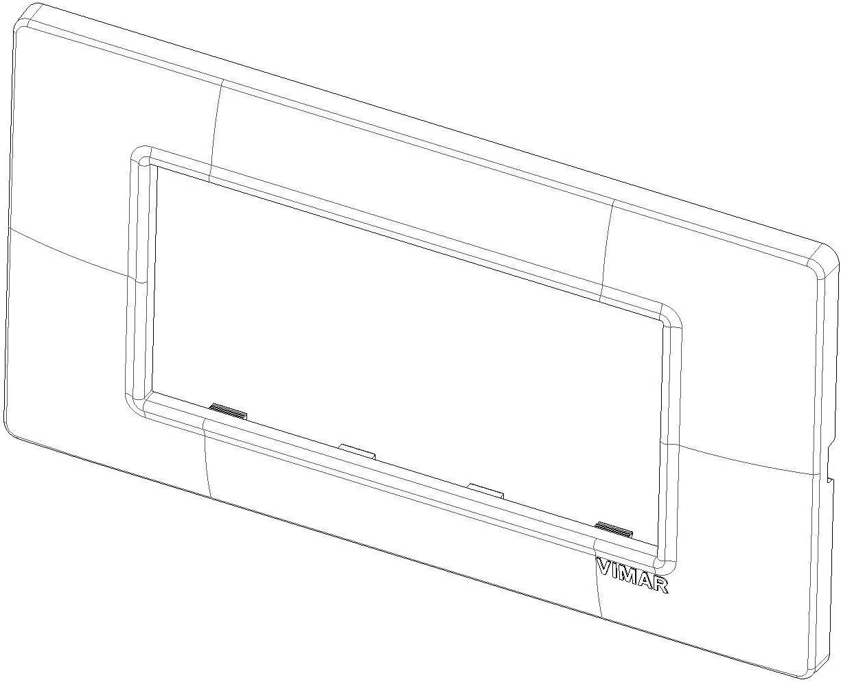 Vimar Serie piatto/ /Placca 7/Modulo Tecnopolimero Crema