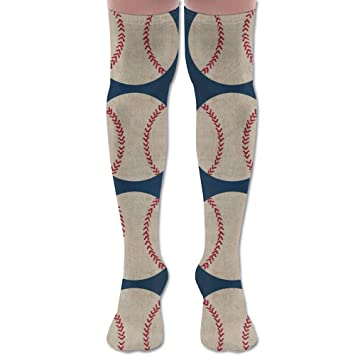 Yuerb Calcetines Altos New Baseball Vintage Navy (1683) Fashion Stylish Comfortable Knee High Socks Long Socks for Women and Men: Amazon.es: Deportes y aire ...
