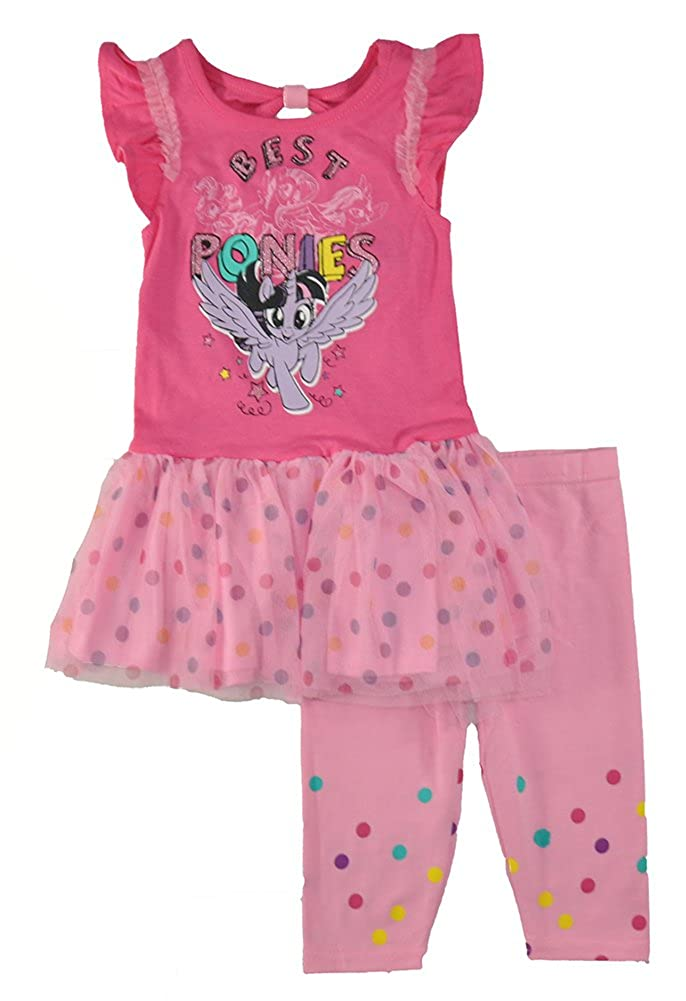 My Little Pony Little Girls' Toddler Pink Two-Piece Legging Set Children's Apparel