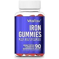 Iron Supplement Gummy Vitamins for Women, Men & Kids [ Immune Support ] Iron Gummies...