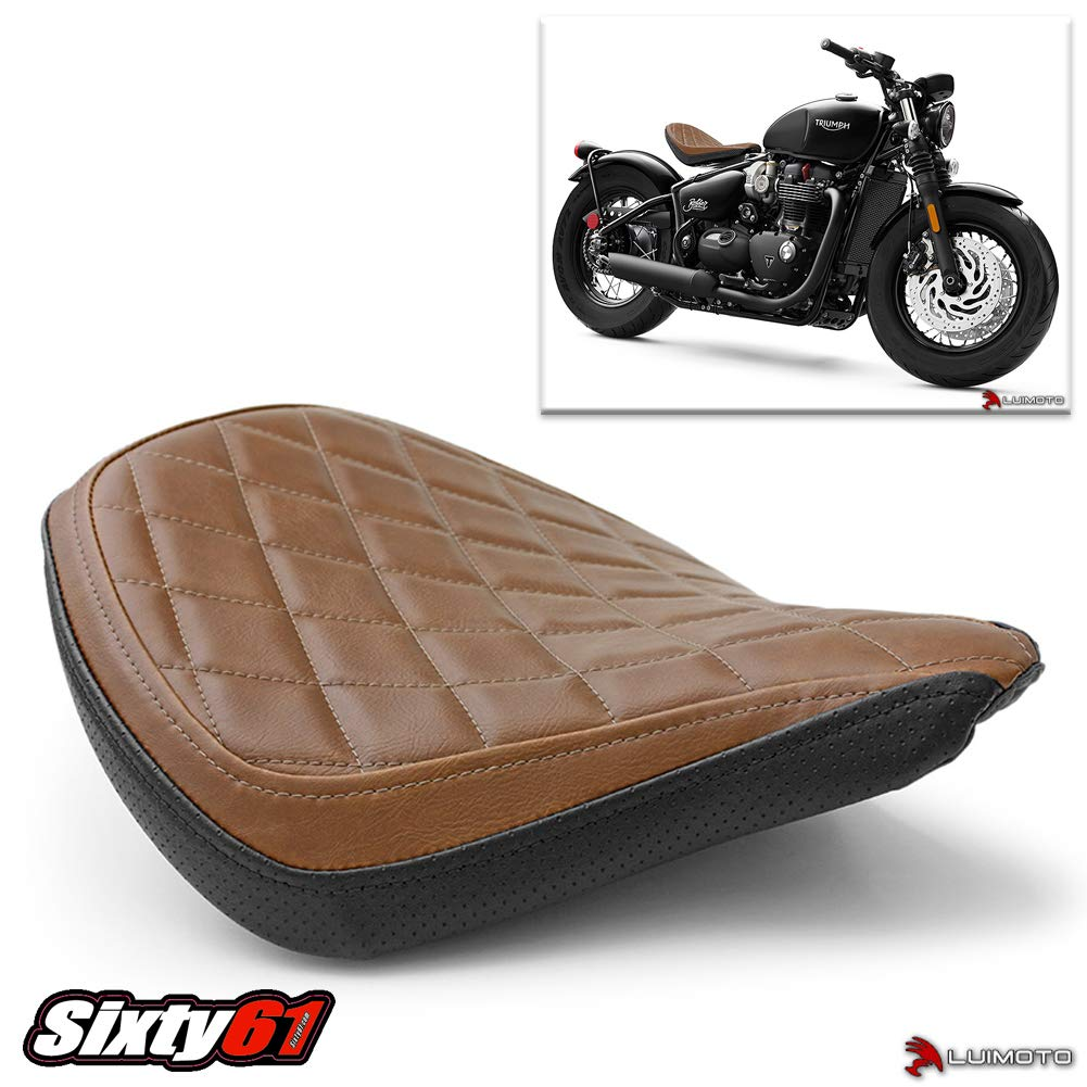 Luimoto Seat Cover for Triumph Bobber 2017 2018 Brown and Black by Sixty61