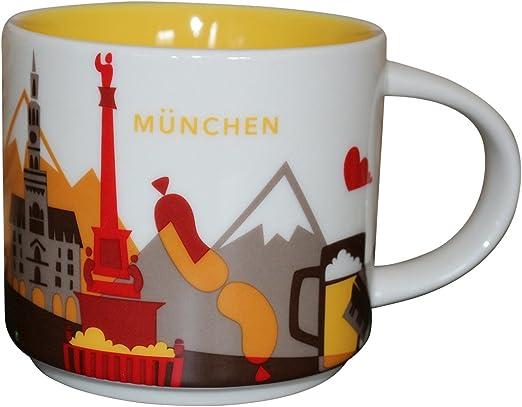 Starbucks Coffee 14oz GERMANY mug YAH YOU ARE HERE Cup NWT