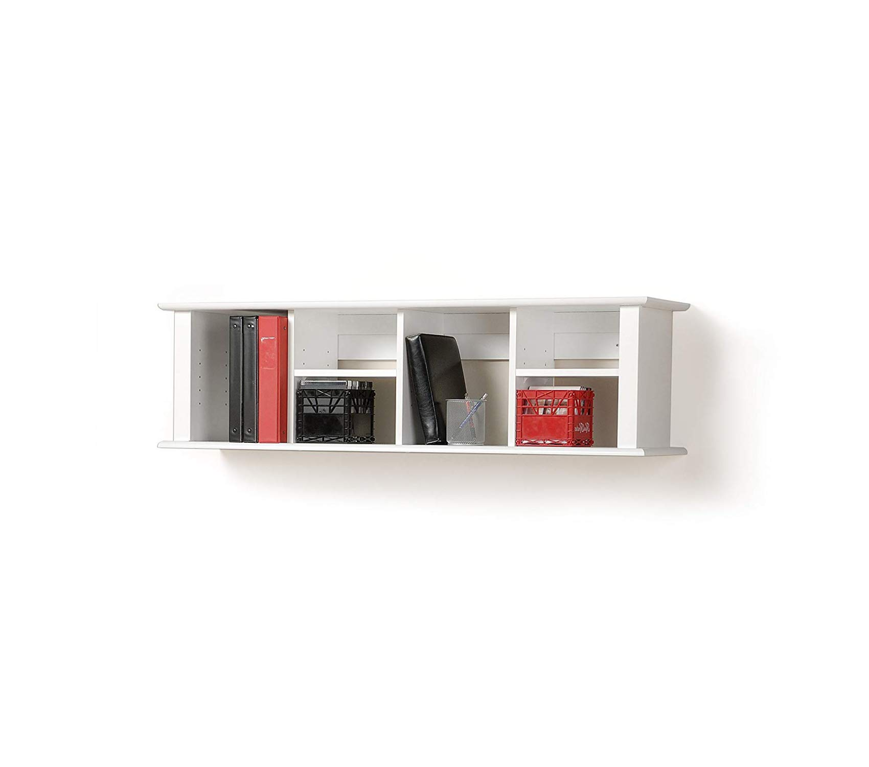 Premium White Wall Mounted Desk Hutch