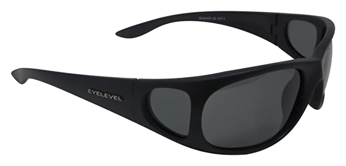 Airsoft Gafas de sol polarizadas gris Kat-3, UV400 lentes + Side Shields