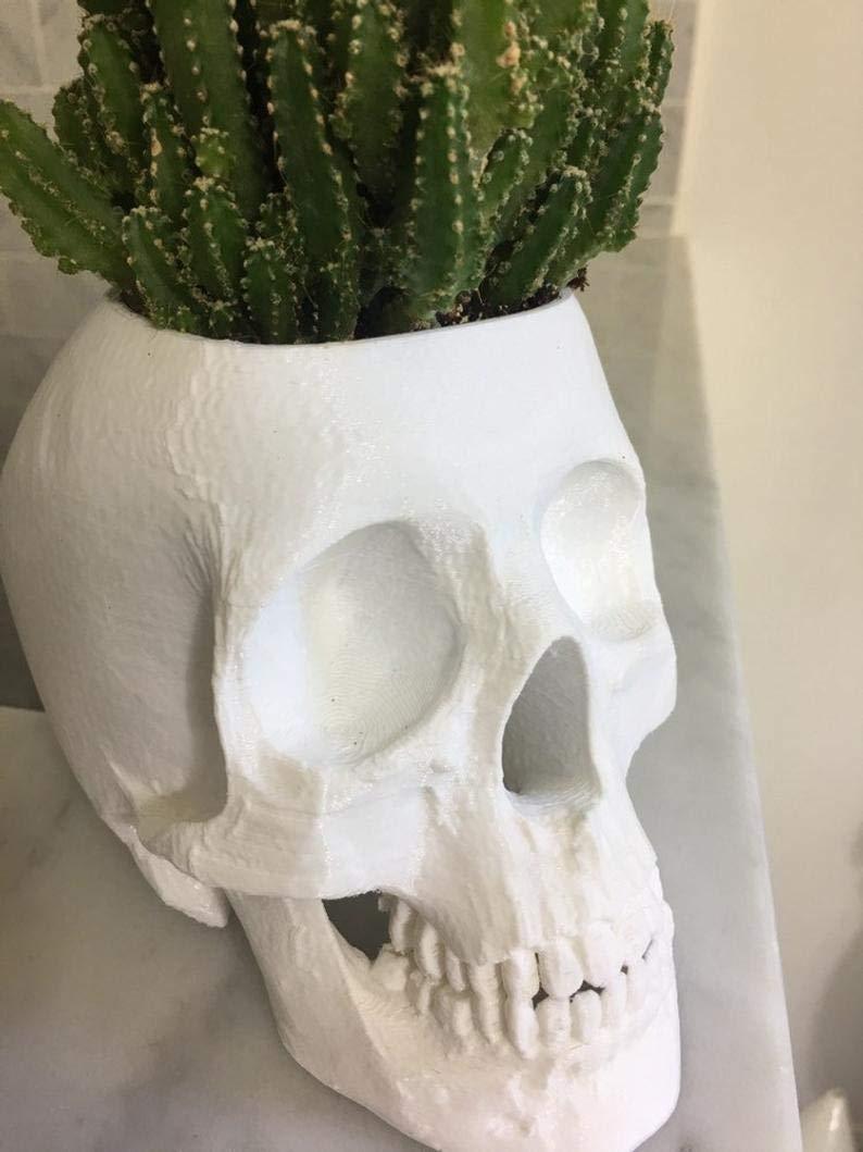 Large Air Planter Halloween Halloween Planter Succulent Planter Gothic Decor Human Skull Large Skull Planter Skull Gift