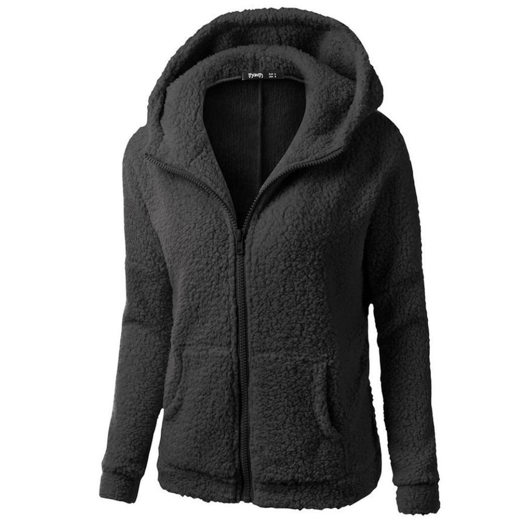 女性用暖かいコットンコート、todaiesレディースフード付きセーターコート冬暖かいウールカーディガンジッパーコートコットンコートアウタービッグサイズ XL ブラック B076BP6VW2 XL ブラック ブラック XL