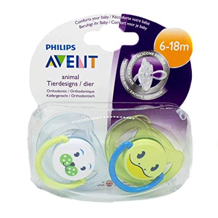 Philips Avent: 2 x Chupetes 6-18m (Perro / Rana): Amazon.es ...