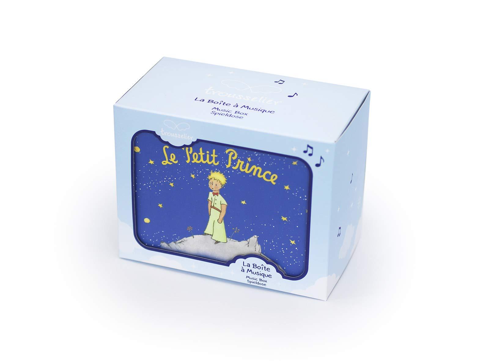 Trousselier - Little Prince - Photoluminescent Music Box - Glow in The Dark - Dark Blue