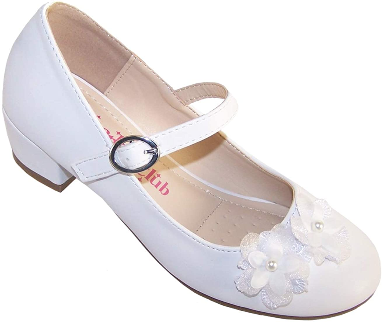 WHITE SATIN BRIDESMAID//COMMUNION SHOES GIRLS UK SIZE 12 BUT ARE A SMALL FIT