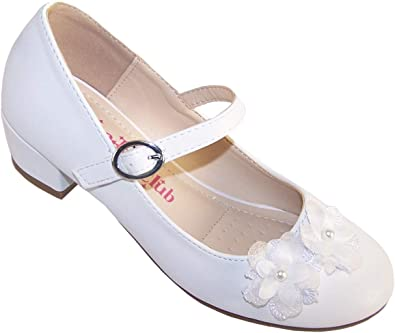 Girls Children Flat Buckle Strap Pumps Wedding Occasion Shoes Party Shoes Size