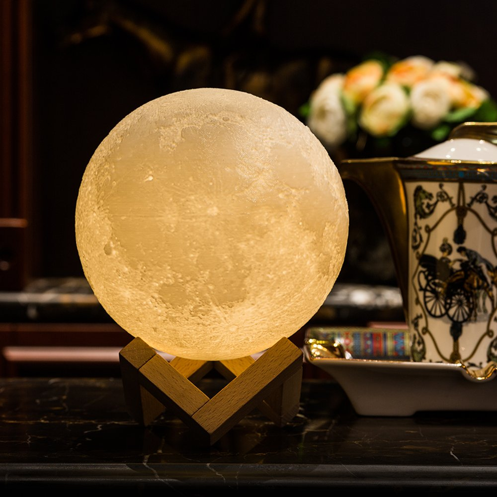 Mond Lampe, 3D