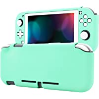 eXtremeRate PlayVital Customized Protective Grip Case for Nintendo Switch Lite, Soft Touch Mint Green Protector for…