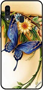 For Samsung Galaxy A30 Case Blue Butterfly