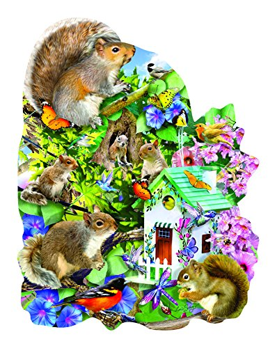 1000 Piece Shaped Jigsaw Puzzle - Something Squirrelly 1000 Piece Shaped Jigsaw Puzzle by SunsOut