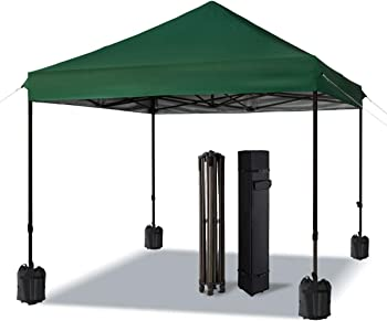 Comooo 10x10-Foot Pop-Up Canopy with Wheeled Carry Bag