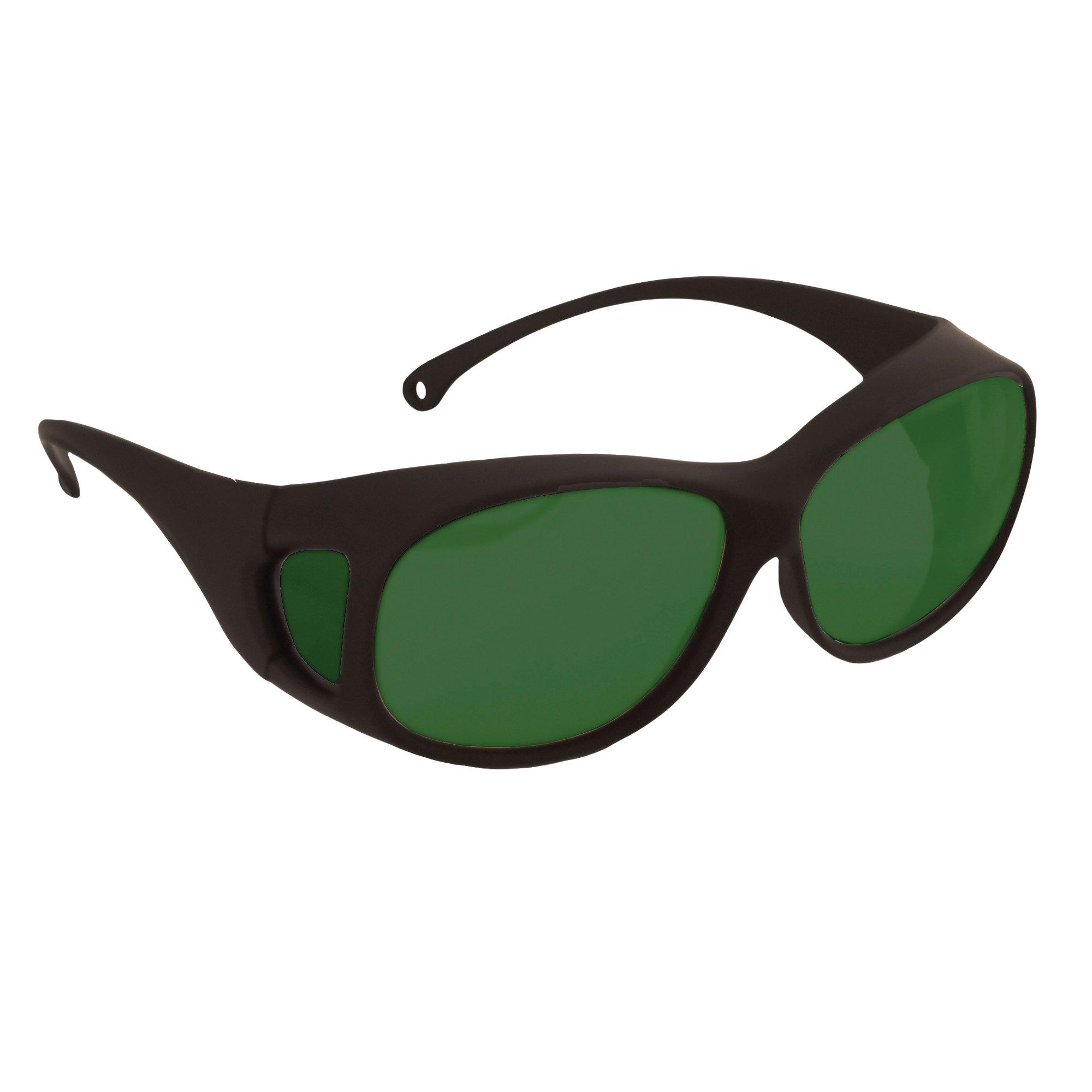 Jackson Safety OTG Safety Glasses (21917), Fits Over Readers, IRUV Shade 5.0 Lenses, Black Frame, Pack of 12