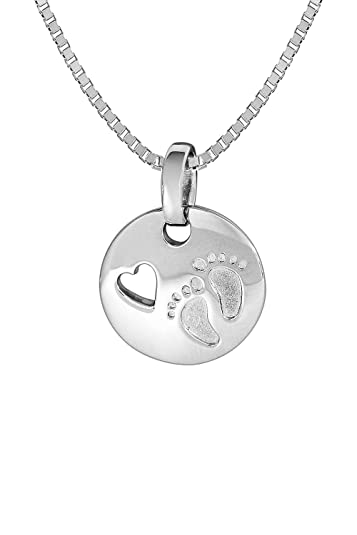trendor Silberkette mit Anhänger Baby-Fußabdruck 35859  Amazon.de ... 1ad4c1ca52