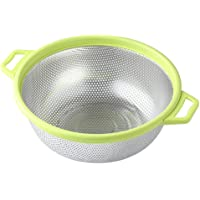 Stainless Steel Colander With Handle and Legs, Large Metal Green Strainer for Pasta, Spaghetti, Berry, Veggies, Fruits, Noodles, Salads, 5-quart 10.5€ Kitchen Food Mesh Colander, Dishwasher Safe