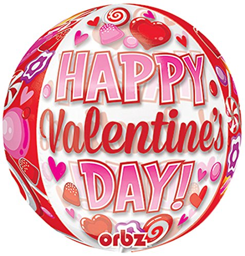 Happy Valentine's Day Candy 41cm Orbz Foil Balloon   B01MYZCXNZ