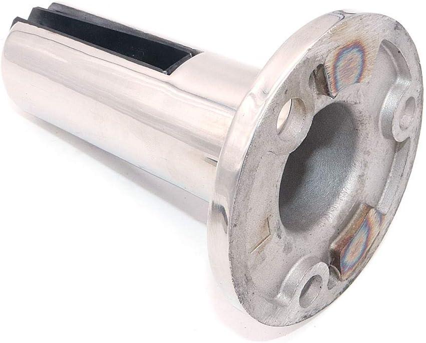 Nuzamas Lot de 2 poteaux en acier inoxydable 304 pour panneau de verre 8-12 mm Pour cl/ôture de piscine balcon jardin