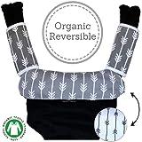 Baby Carrier Reversible Teething Drool Pads: Global Certified 100% Organic Cotton 1 Bib 2 Teething Pads 3-Piece Set…