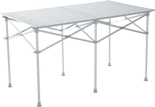 Outsunny Mesa Plegable Portátil Aluminio para Camping, Terraza ...