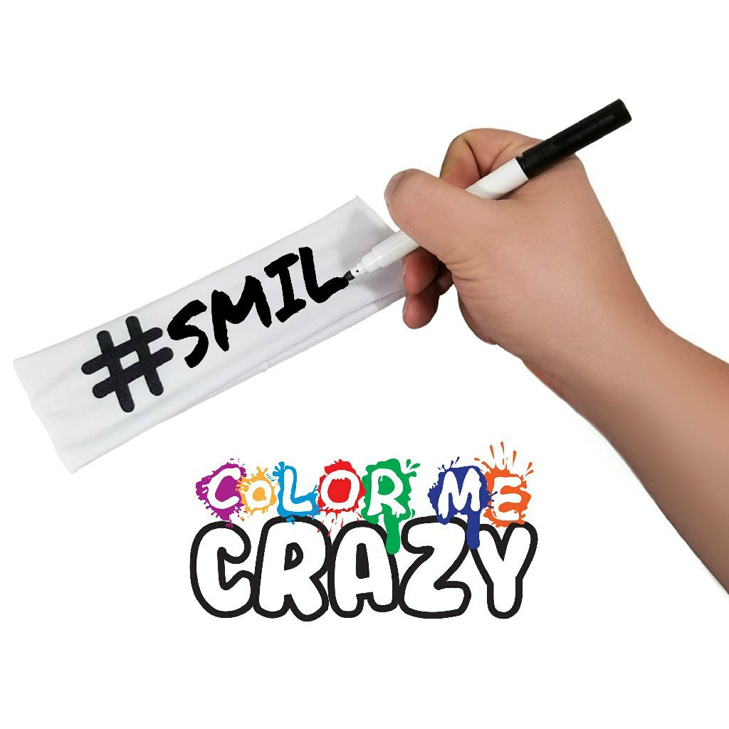 Color Me Crazy Hashtag Headband and Fabric Marker [Set of 3] for Sports, Events, More by Color Me Crazy (Image #8)