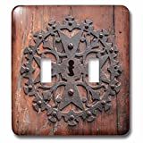 3dRose Danita Delimont - Doors - Spain, Balearic Islands, Mallorca, Arta. Decorative Key hole - Light Switch Covers - double toggle switch (lsp_277914_2)